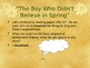 """The Boy Who Didn't Believe in Spring"" - Reading Strategies"