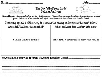"""""""The Boy Who Drew Birds"""" Reading Analysis Lesson 11"""