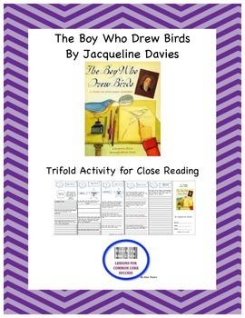 """The Boy Who Drew Birds"" Trifold Activity Reading Wonders"