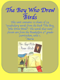ReadyGen The Boy Who Drew Birds Vocabulary Word Wall Cards 4th Grade Unit 1