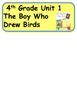 ReadyGen The Boy Who Drew Birds Vocabulary Word Wall Cards 4th Grade Unit 1