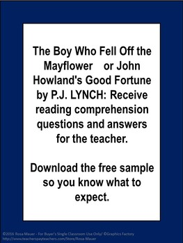 The Boy Who Fell Off the Mayflower or John Howland's Good Fortune