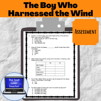 The Boy Who Harnessed the Wind Assessment (Young Reader's Edition)