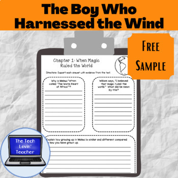 The Boy Who Harnessed the Wind Classwork-Chapter 1