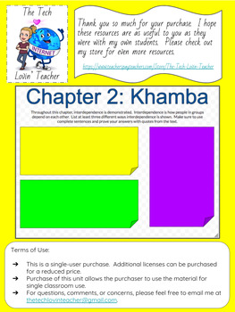 The Boy Who Harnessed the Wind Classwork-Chapter 2