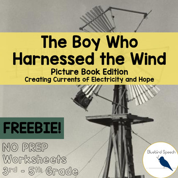 FREE Boy Who Harnessed the Wind: Core Language in Speech T