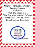 """""""The Boy Who Invented TV""""  Close Activity with Paired Text  Wonders 5th Grade"""