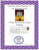"""""""The Boy Who Invented TV"""" Trifold Activity Reading Wonders 5th Grade"""