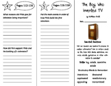 The Boy Who Invented TV Trifold - ReadyGen 2016 4th Grade Unit 4 Module B