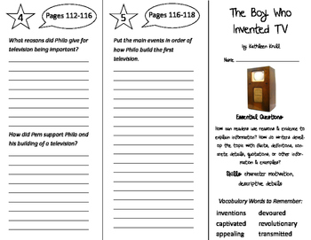 The Boy Who Invented TV Trifold - ReadyGen 4th Grade Unit 4 Module B