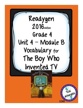 The Boy Who Invented TV Vocabulary