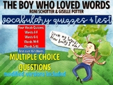 The Boy Who Loved Words by Roni Schotter Vocabulary Quizzes & Test