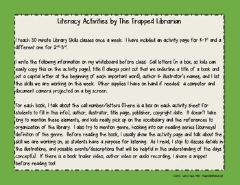 The Boy Who Wouldn't Read:  Literacy Activities