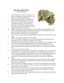 The Boy and the Wolf - Literary Text Test Prep