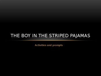 The Boy in Striped Pajamas activities and prompts