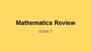 Mathematics Grade 7 Review PowerPoint