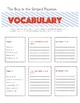 The Boy in the Striped Pajamas-Chapters 1-5 Activities/Vocabulary