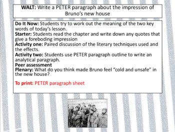The Boy in the Striped Pajamas - Chapter 2 (full lesson and resources).