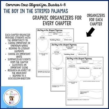 The Boy in the Striped Pajamas Chapter Graphic Organizers