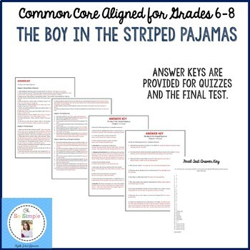 The Boy in the Striped Pajamas Chapter Quizzes and Final Test