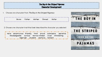 The Boy in the Striped Pajamas Character Development