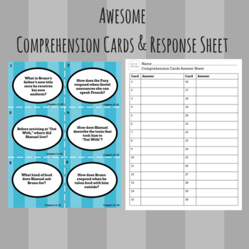 The Boy in the Striped Pajamas - Complete Comprehension & Discussion Cards