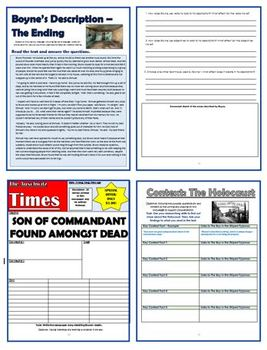 The Boy in the Striped Pajamas Comprehension Activities Booklet!