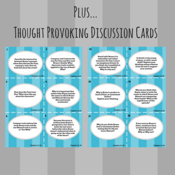 The Boy in the Striped Pajamas - Comprehension & Discussion Cards (Ch. 11-20)