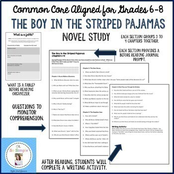 The Boy in the Striped Pajamas Novel Study