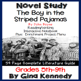 The Boy in the Striped Pajamas Novel Study + Enrichment Project Menu