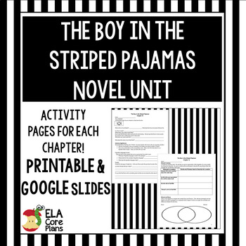 The Boy in the Striped Pajamas Novel Unit  Activities, Handouts, Tests