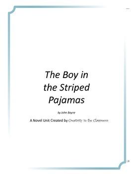 The Boy in the Striped Pajamas Novel Unit Plus Grammar