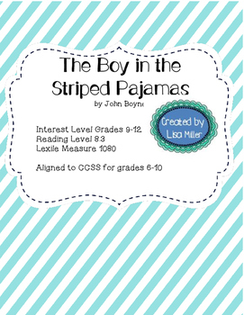 The Boy in the Striped Pajamas Novel Unit with Differentia