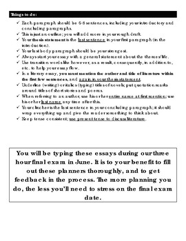 The Boy in the Striped Pajamas: Problem-Solution Essay Planner