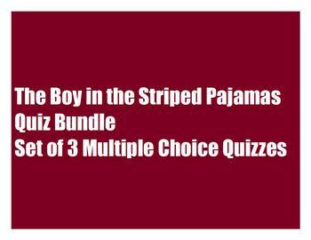 The Boy in the Striped Pajamas Quiz Bundle