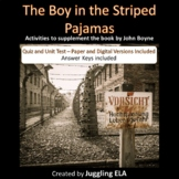 The Boy in the Striped Pajamas Quiz and Unit Test