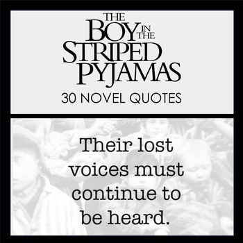 The Boy in the Striped Pajamas Quote Posters