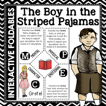The Boy in the Striped Pajamas: Reading and Writing Interactive Notebook