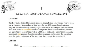 The Boy in the Striped Pajamas - Soundtrack Assignment
