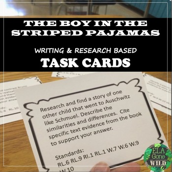 Boy in the Striped Pajamas Writing Task Cards