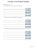 The Boy in the Striped Pajamas ch.1-3 quiz