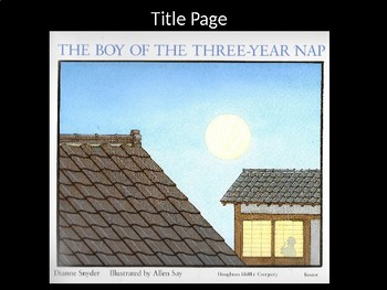 The Boy of the Three-Year Nap PowerPoint