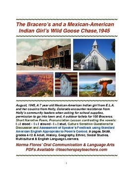 The Bracero's and Mexican-American Indian Girl's Wild Goose Chase