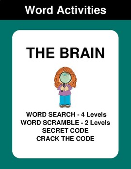 The Brain - Word Search Puzzle, Word Scramble,  Crack the Code