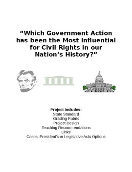 The Branches of Government and Civil Rights