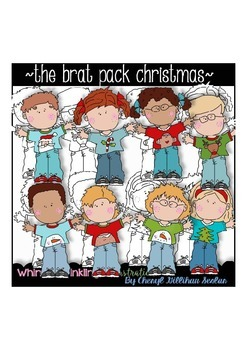 The Brat Pack Christmas Clipart Collection