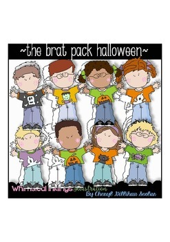 The Brat Pack Halloween Clipart Collection