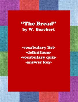 The Bread:  Vocabulary