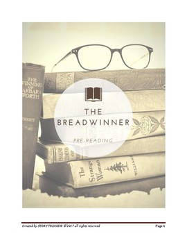 The Breadwinner - A Novel Study and Reading Road Map