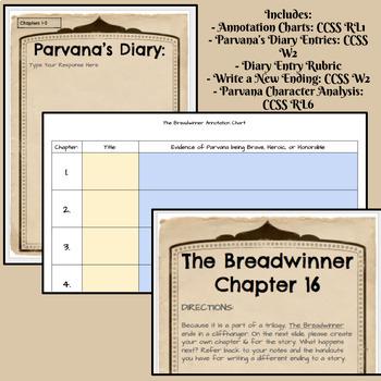 The Breadwinner Activity Set - Google Classroom Version